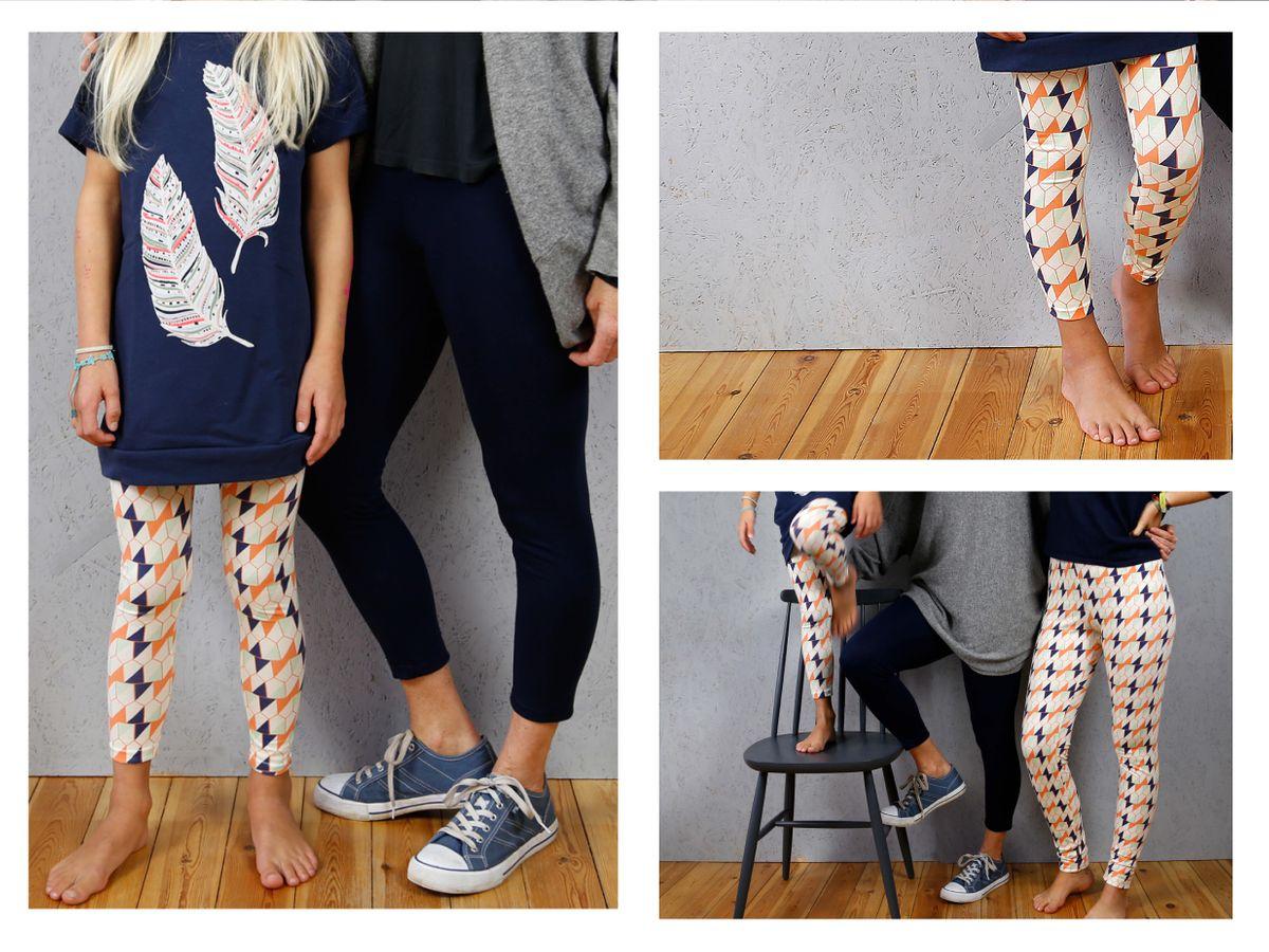 Produktfoto 3 von STUDIO SCHNITTREIF für Schnittmuster FRAU RIEKE & RIEKE Leggings im Partnerlook
