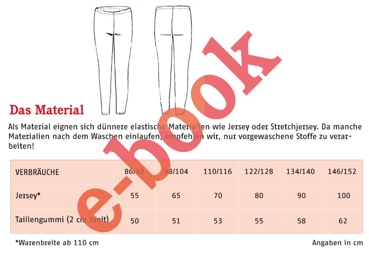 Produktfoto 4 von STUDIO SCHNITTREIF für Schnittmuster FRAU RIEKE & RIEKE Leggings im Partnerlook