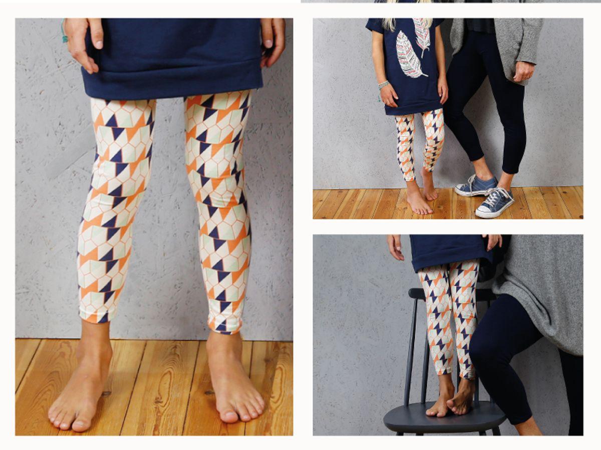 Produktfoto 5 von STUDIO SCHNITTREIF für Schnittmuster FRAU RIEKE & RIEKE Leggings im Partnerlook