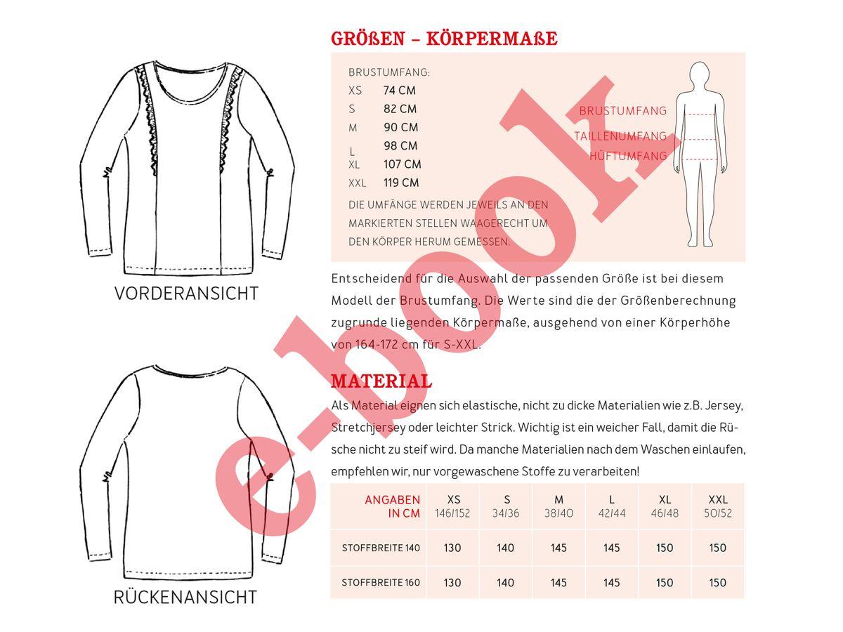 Produktfoto 4 von STUDIO SCHNITTREIF für Schnittmuster FRAU SARA & SARA Rüschenshirts im Partnerlook