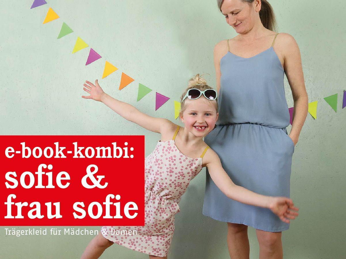 Produktfoto 1 von STUDIO SCHNITTREIF für Schnittmuster FRAU SOFIE & SOFIE  Trägerkleider im Partnerlook