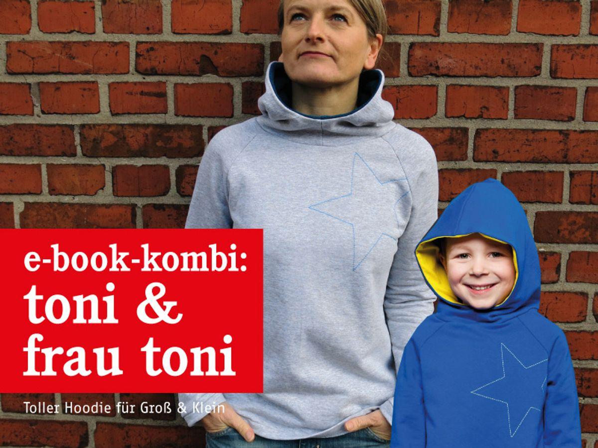 Produktfoto 1 von STUDIO SCHNITTREIF für Schnittmuster FRAU TONI & TONI Kapuzensweater im Partnerlook