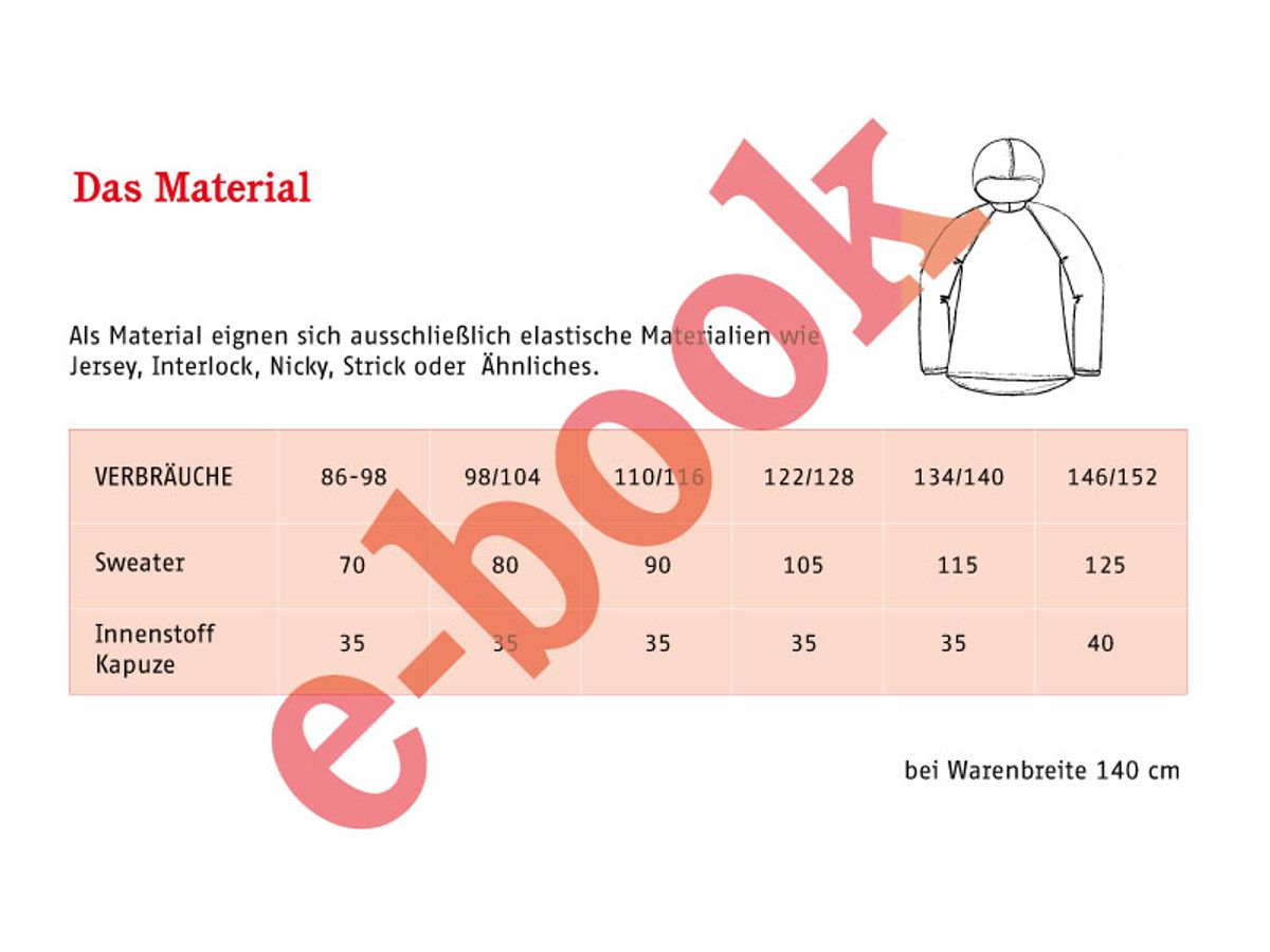 Produktfoto 4 von STUDIO SCHNITTREIF für Schnittmuster FRAU TONI & TONI Kapuzensweater im Partnerlook