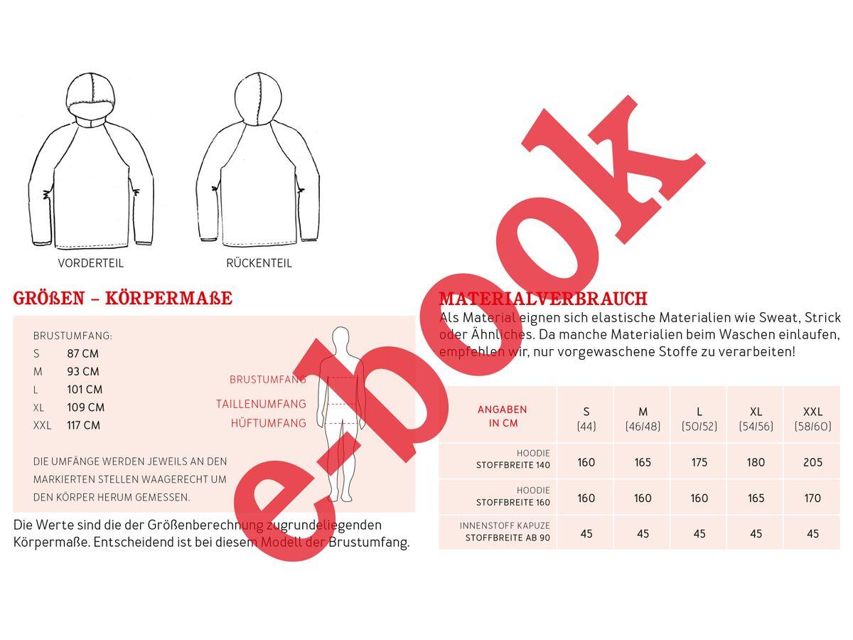 Produktfoto 2 von STUDIO SCHNITTREIF für Schnittmuster HERR TONI & FRAU TONI  Kapuzensweater im Partnerlook