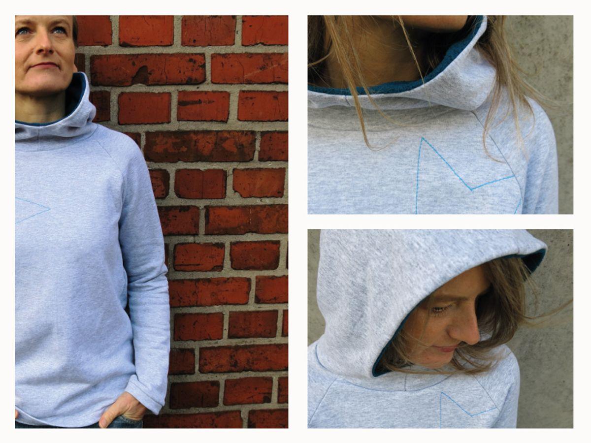 Produktfoto 5 von STUDIO SCHNITTREIF für Schnittmuster HERR TONI & FRAU TONI  Kapuzensweater im Partnerlook