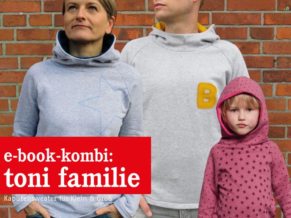 Produktfoto 1 von STUDIO SCHNITTREIF für Schnittmuster TONI FAMILIE  Kapuzensweater im Partnerlook