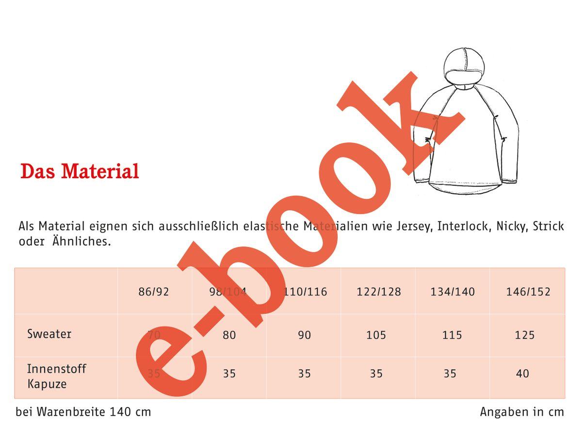 Produktfoto 6 von STUDIO SCHNITTREIF für Schnittmuster TONI FAMILIE  Kapuzensweater im Partnerlook