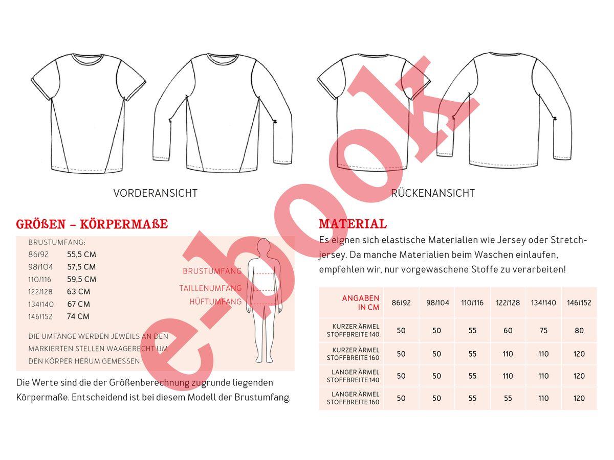 Produktfoto 2 von STUDIO SCHNITTREIF für Schnittmuster HERR BELA & BELA  Shirts im Partnerlook