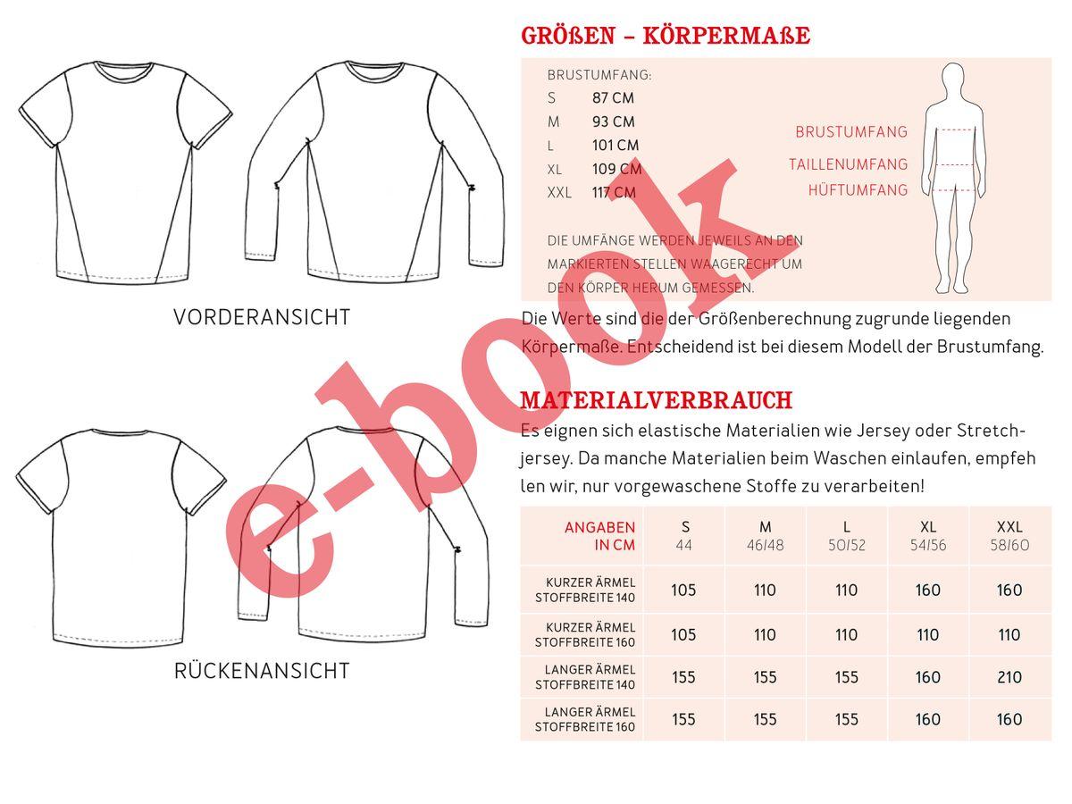 Produktfoto 4 von STUDIO SCHNITTREIF für Schnittmuster HERR BELA & BELA  Shirts im Partnerlook
