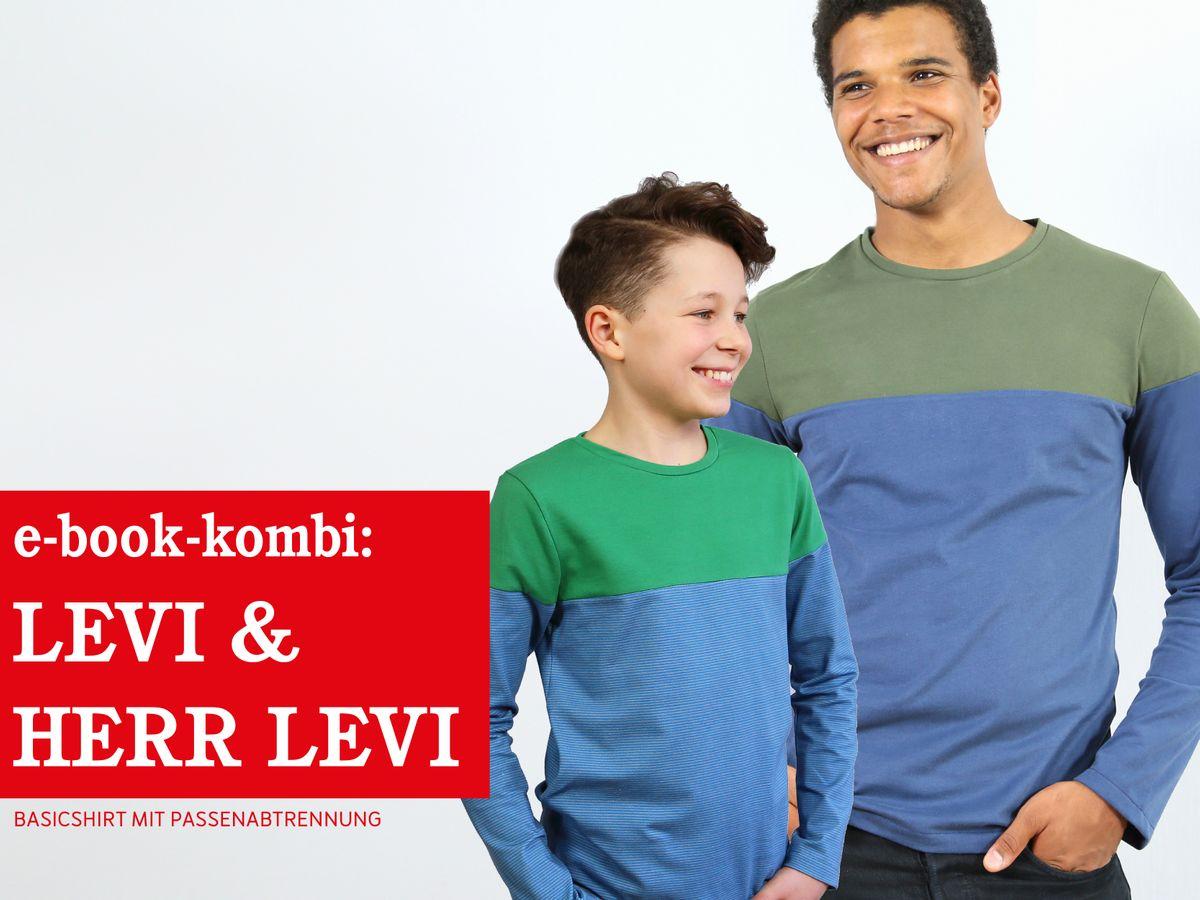 Produktfoto 1 von STUDIO SCHNITTREIF für Schnittmuster HERR LEVI & LEVI Shirts im Partnerlook