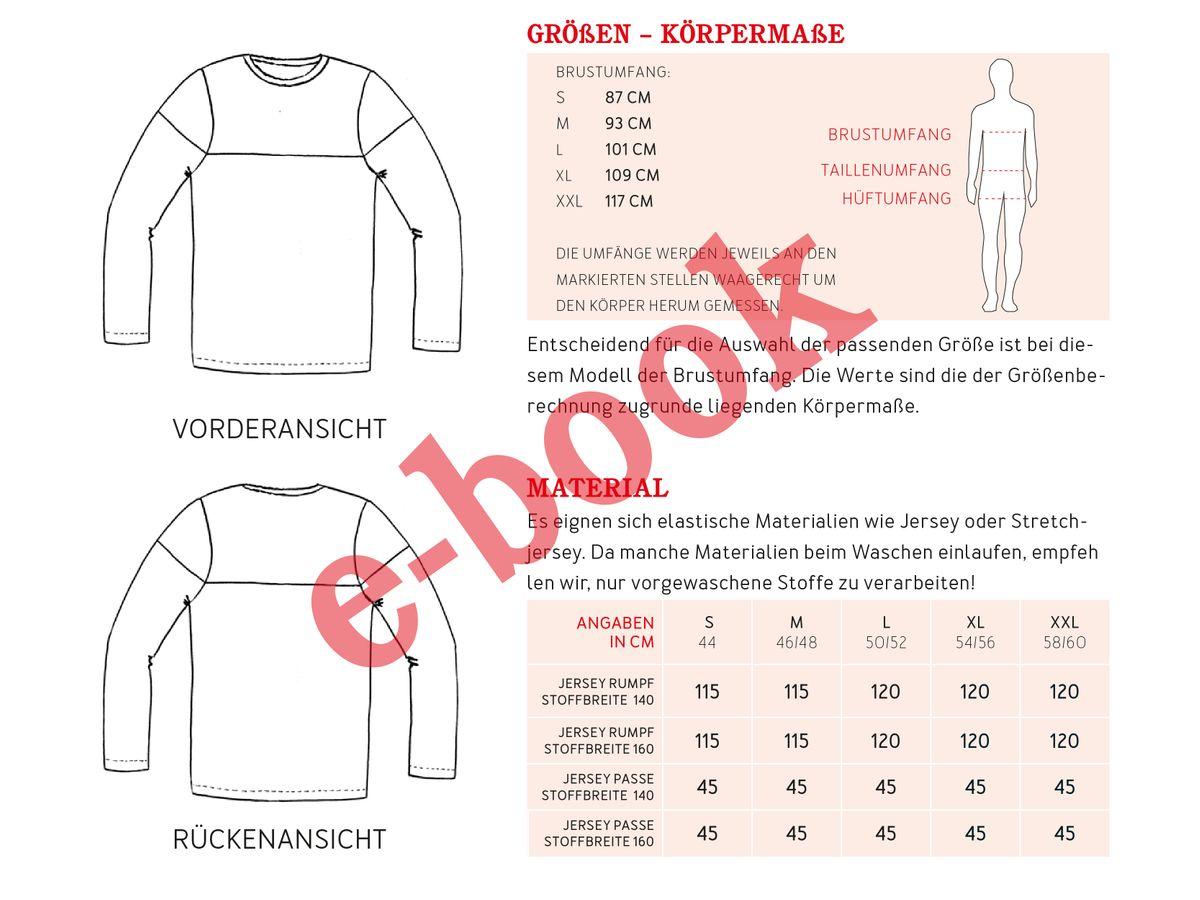 Produktfoto 2 von STUDIO SCHNITTREIF für Schnittmuster HERR LEVI & LEVI Shirts im Partnerlook