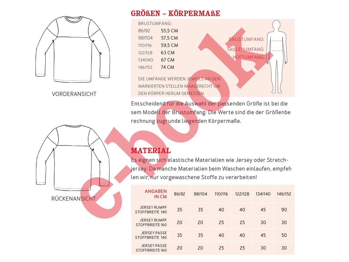 Produktfoto 3 von STUDIO SCHNITTREIF für Schnittmuster HERR LEVI & LEVI Shirts im Partnerlook