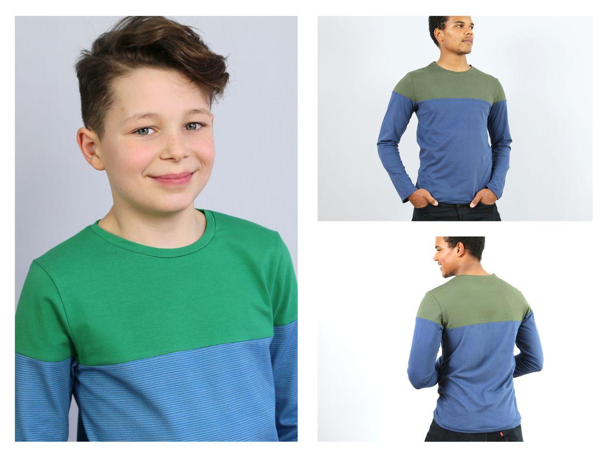 Produktfoto 4 von STUDIO SCHNITTREIF für Schnittmuster HERR LEVI & LEVI Shirts im Partnerlook