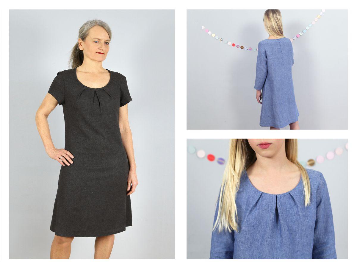 Produktfoto 2 von STUDIO SCHNITTREIF für Schnittmuster AMELAND und FRAU AMELAND • Kleider im Partnerlook,  e-book Kombi
