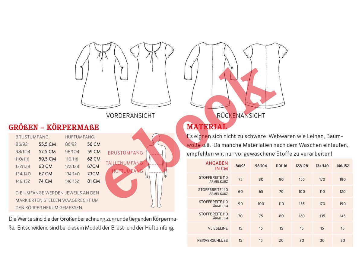 Produktfoto 3 von STUDIO SCHNITTREIF für Schnittmuster AMELAND und FRAU AMELAND • Kleider im Partnerlook,  e-book Kombi