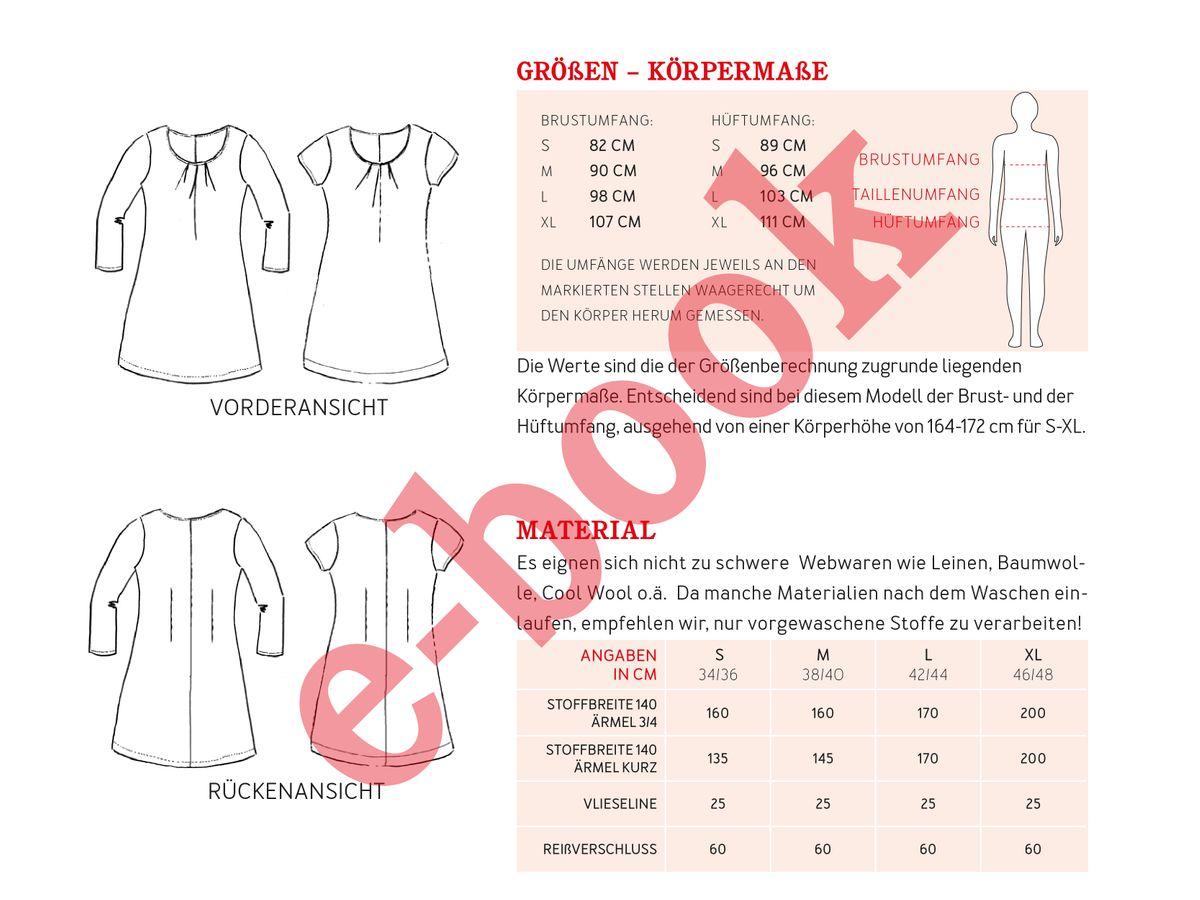 Produktfoto 4 von STUDIO SCHNITTREIF für Schnittmuster AMELAND und FRAU AMELAND • Kleider im Partnerlook,  e-book Kombi