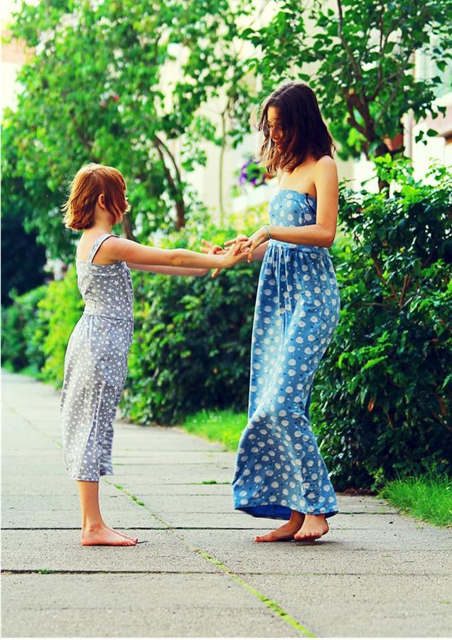 Produktfoto 10 von Rosalieb & Wildblau für Schnittmuster Kombi-Ebook Boho-Bandeau Damen und Kids