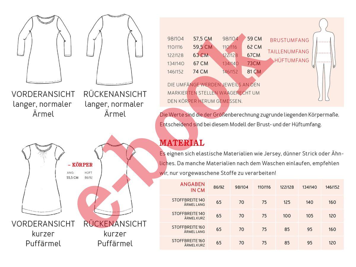 Produktfoto 3 von STUDIO SCHNITTREIF für Schnittmuster VLIELAND & FRAU VLIELAND Jerseykleider im Partnerlook