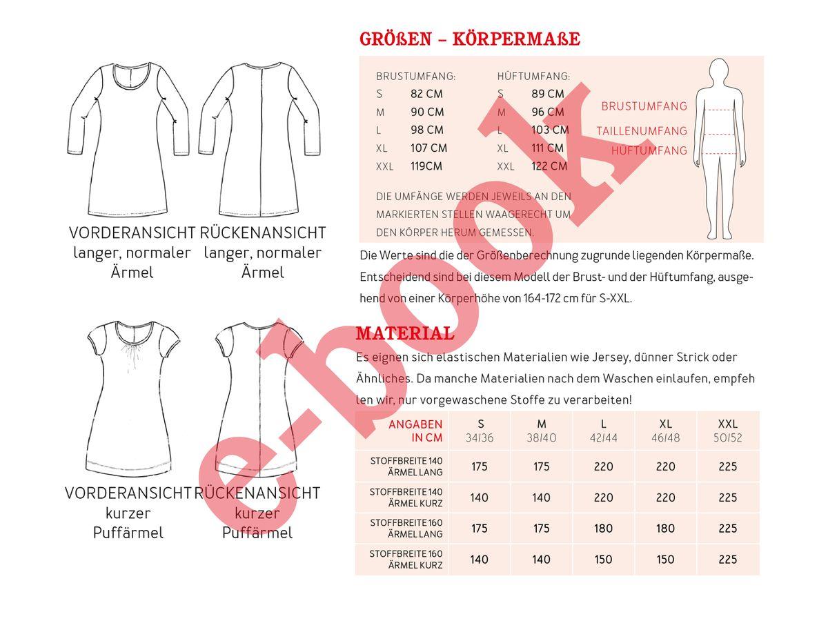 Produktfoto 4 von STUDIO SCHNITTREIF für Schnittmuster VLIELAND & FRAU VLIELAND Jerseykleider im Partnerlook