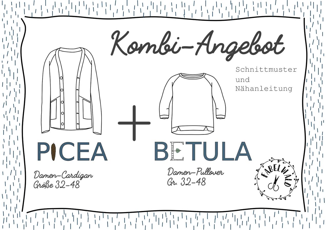 """Produktfoto 1 von Fabelwald für Schnittmuster Kombi-Angebot: """"BETULA"""" + PICEA"""