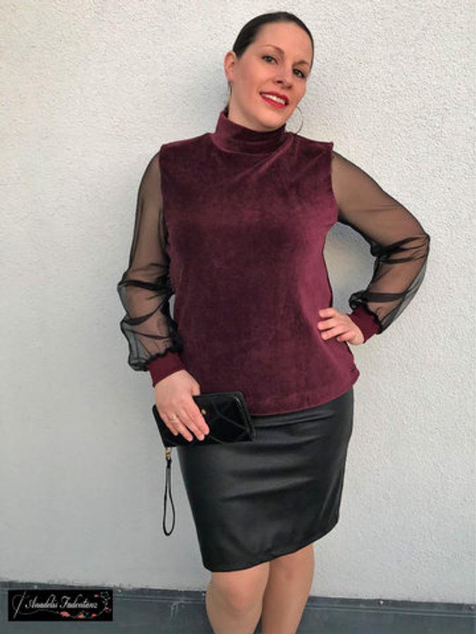 Produktfoto 3 von drei eMs für Schnittmuster Shirt/Kleid LACONA + Rock CLARIE XS-XXXL