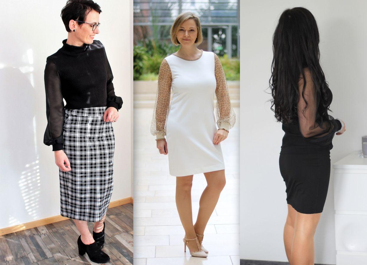 Produktfoto 1 von drei eMs für Schnittmuster Shirt/Kleid LACONA + Rock YVI