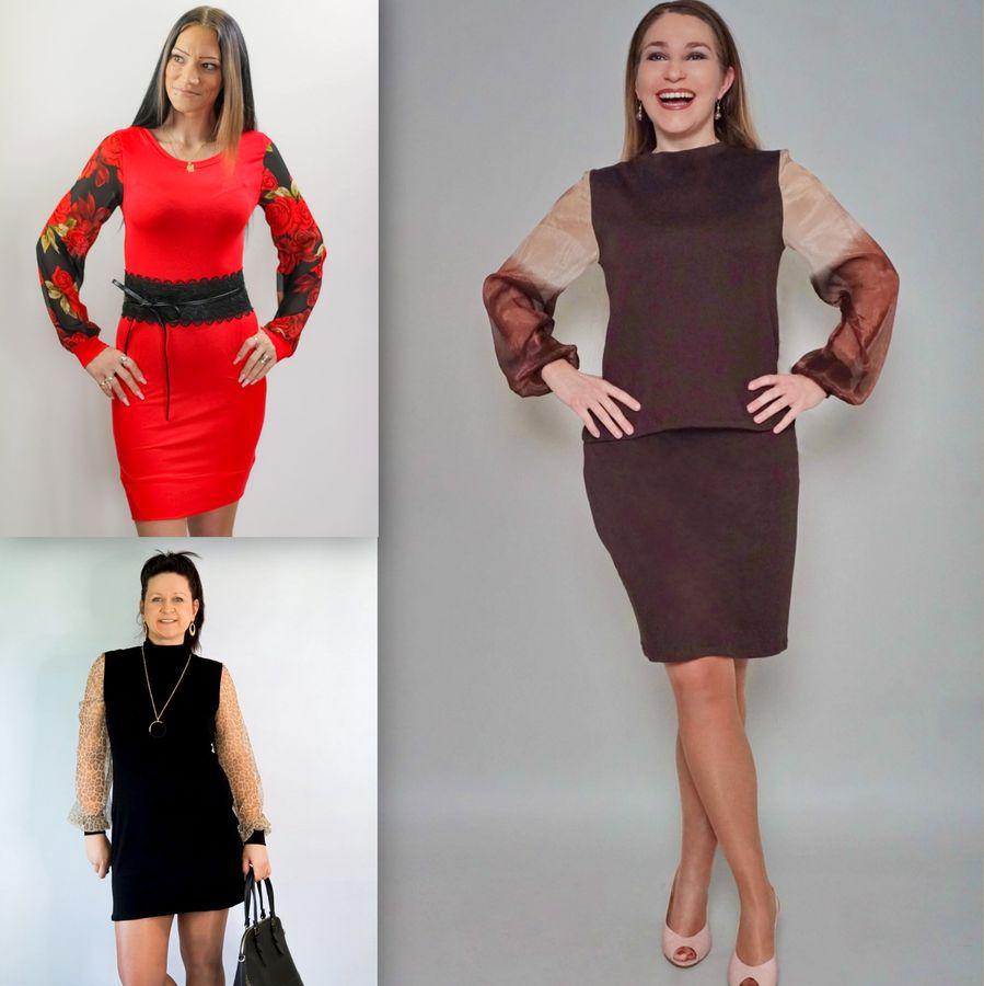 Produktfoto 2 von drei eMs für Schnittmuster Shirt/Kleid LACONA + Rock YVI