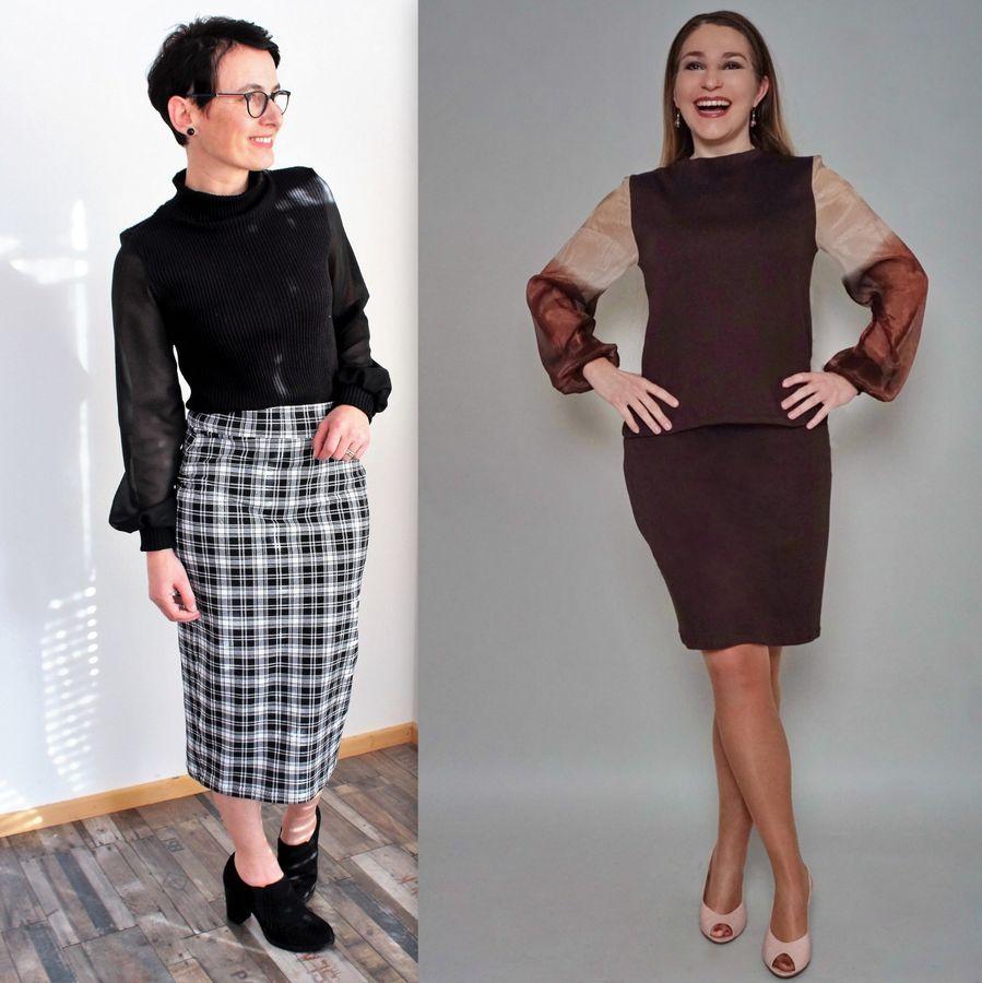 Produktfoto 3 von drei eMs für Schnittmuster Shirt/Kleid LACONA + Rock YVI