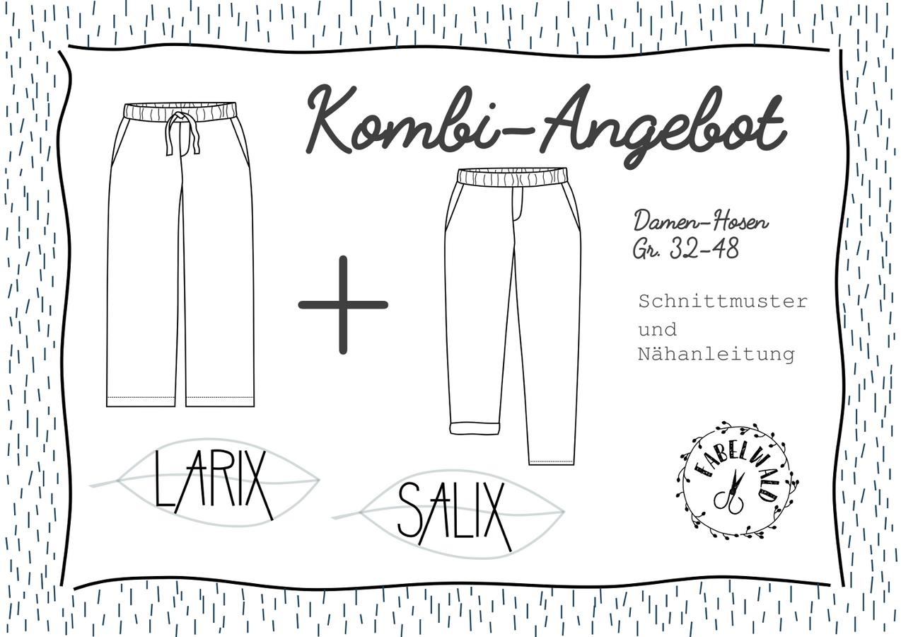 """Produktfoto 1 von Fabelwald für Schnittmuster Kombi-Angebot: """"LARIX"""" + """"SALIX"""""""