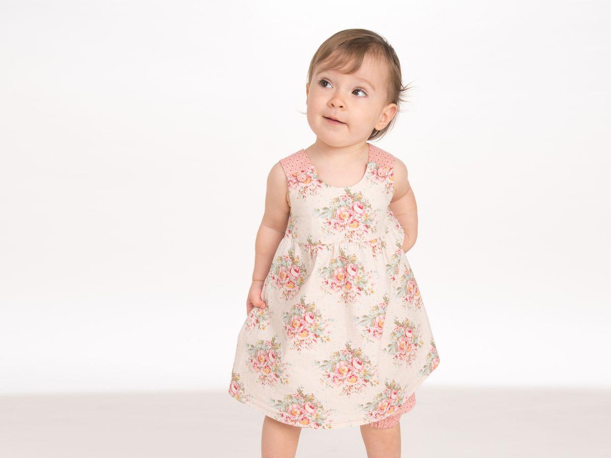 Produktfoto 2 von Pattern 4 kids für Schnittmuster Clara und Emi Kleid und Pumphose