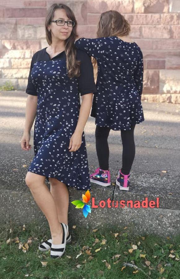 Produktfoto 2 von Unendlich schön - Design Anita Lüchtefeld für Schnittmuster Ginger Mama Kind Raglan Kleiderschnitt