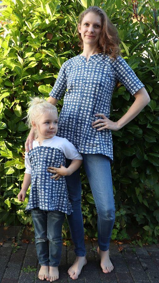 Produktfoto 12 von Unendlich schön - Design Anita Lüchtefeld für Schnittmuster Ginger Mama Kind Raglan Kleiderschnitt