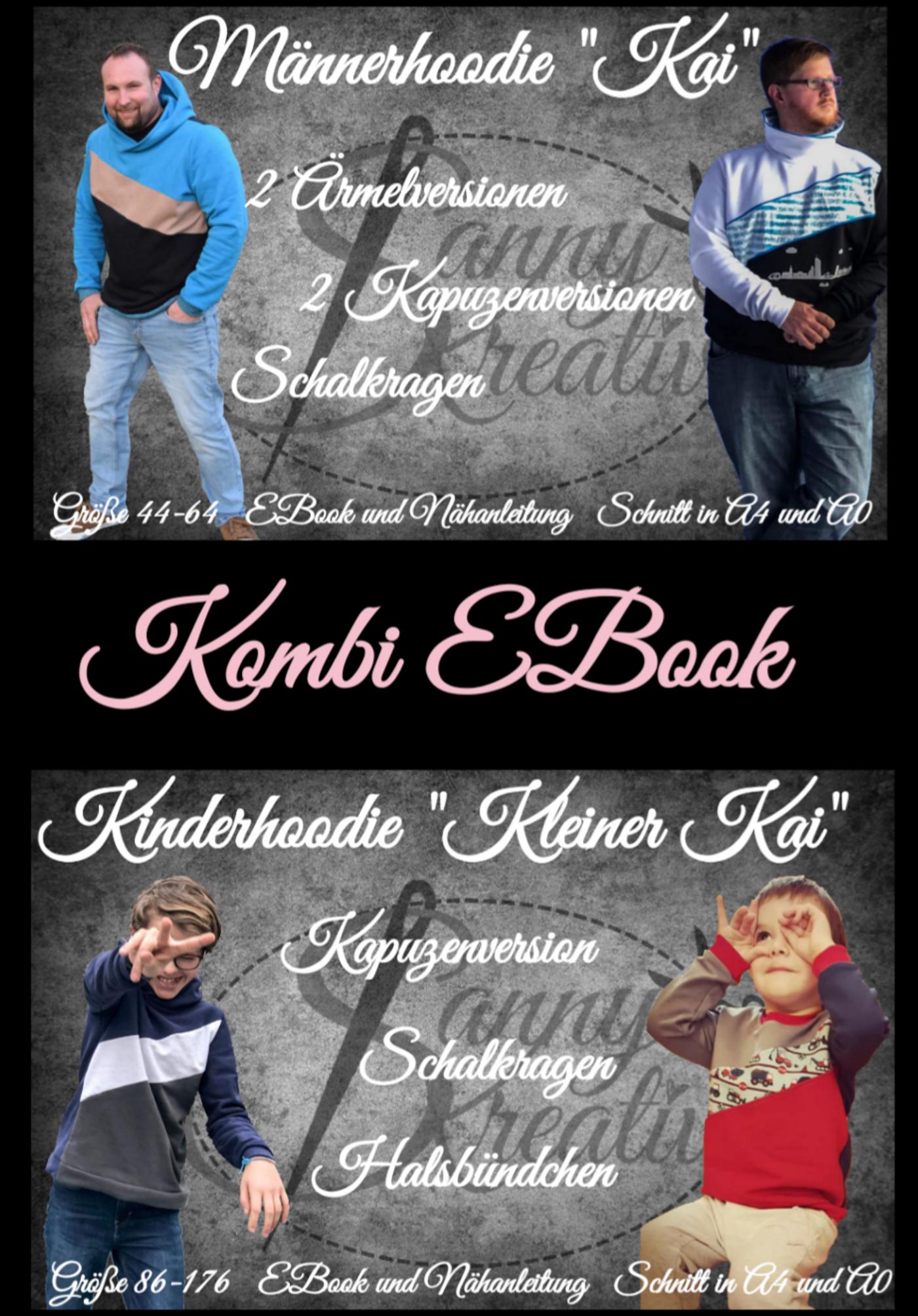 Produktfoto 1 von Sanny Kreativ für Schnittmuster Kombi Ebook Hoodie Kai und kleiner Kai