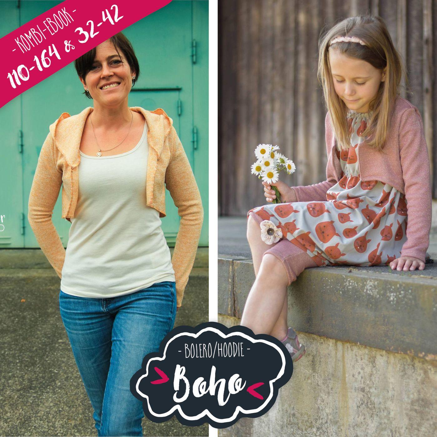 Produktfoto 1 von Katiela für Schnittmuster Ebook Boho Bolero Frauen und Mädchen