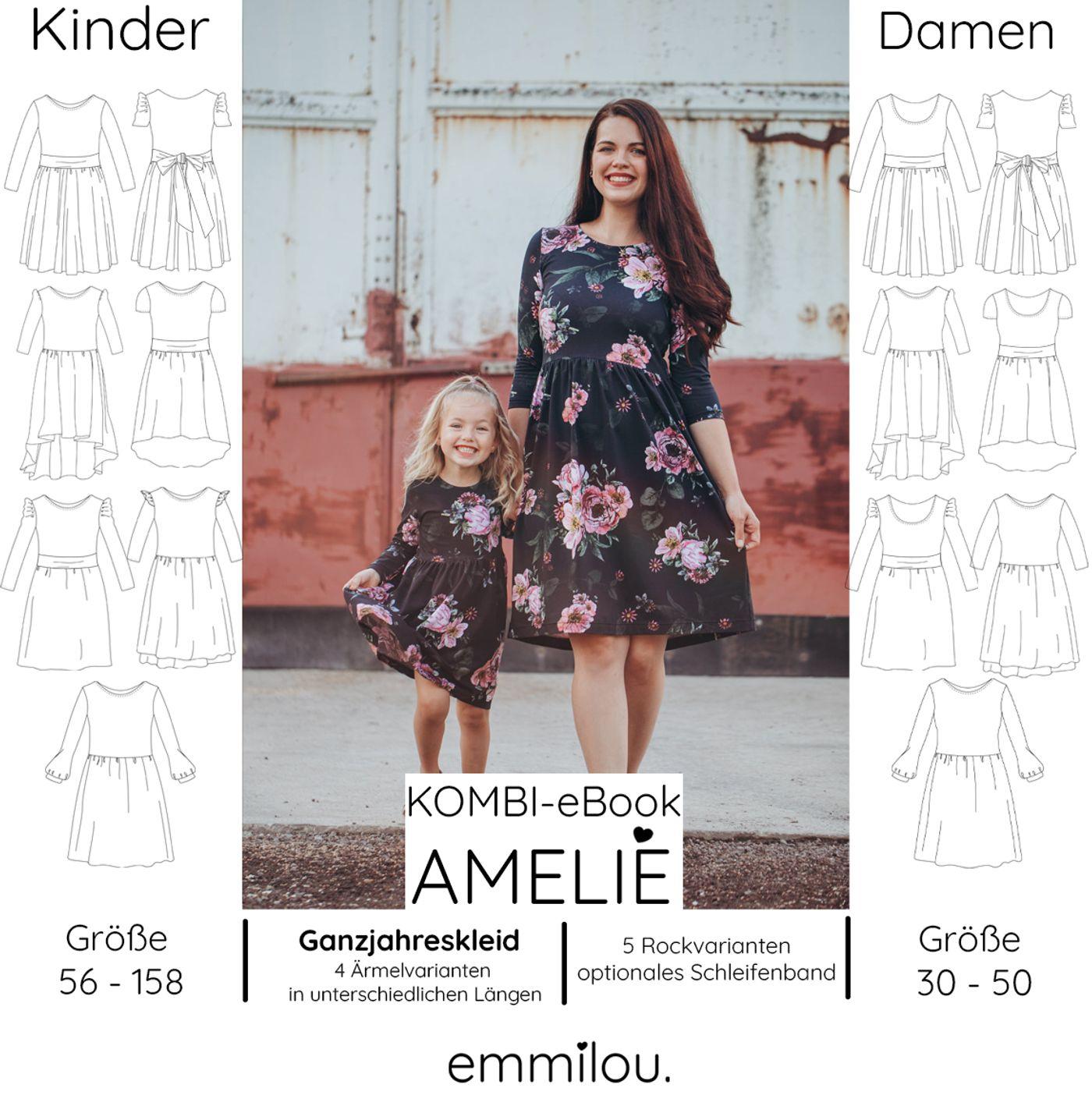 """Produktfoto 1 von emmilou. für Schnittmuster Kombi eBook Ganzjahreskleid """"Amelie"""""""