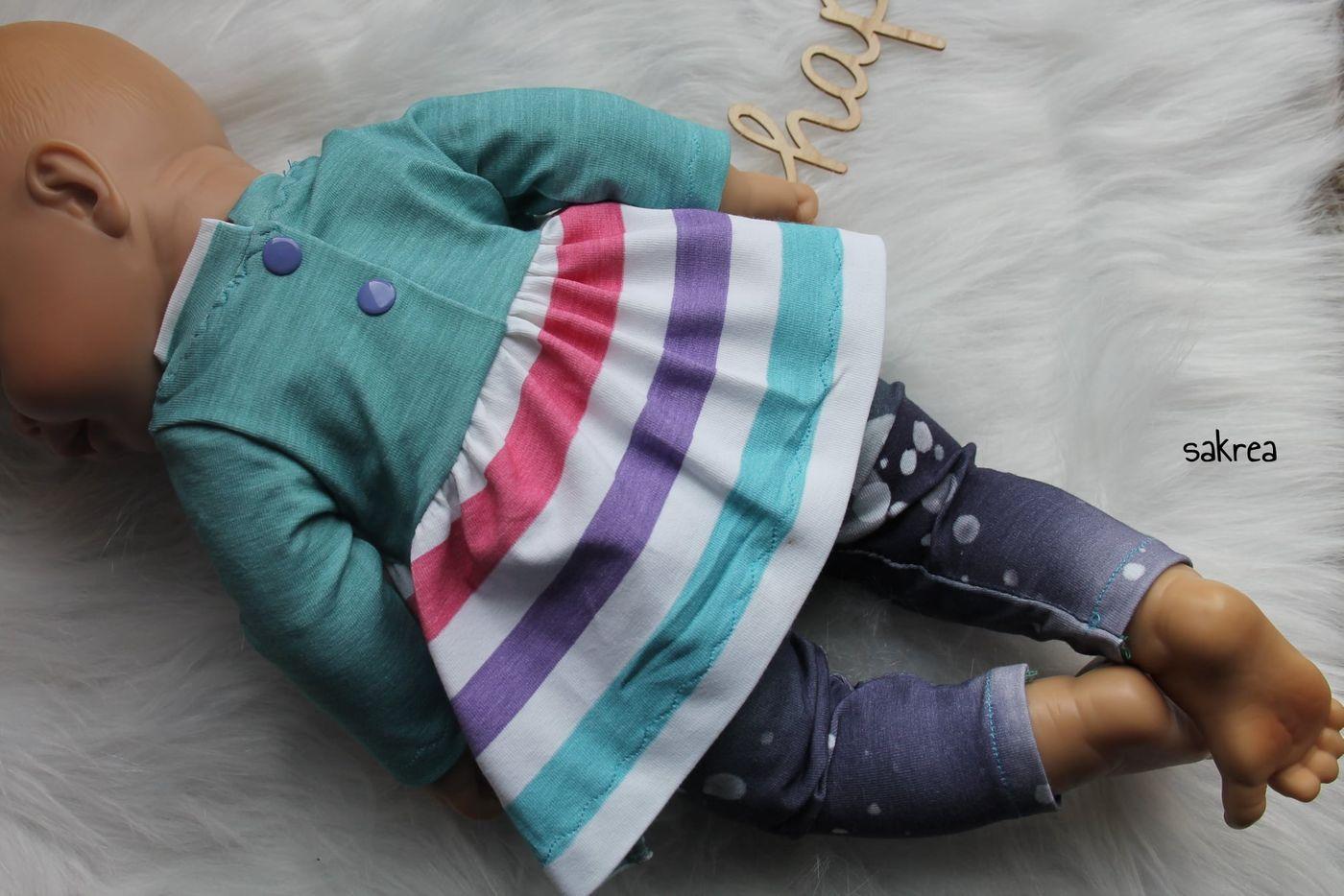 Produktfoto 5 von Happy Pearl für Schnittmuster Little Keyla + Happy Keyla - Tunika und 43cm Puppenschnitt