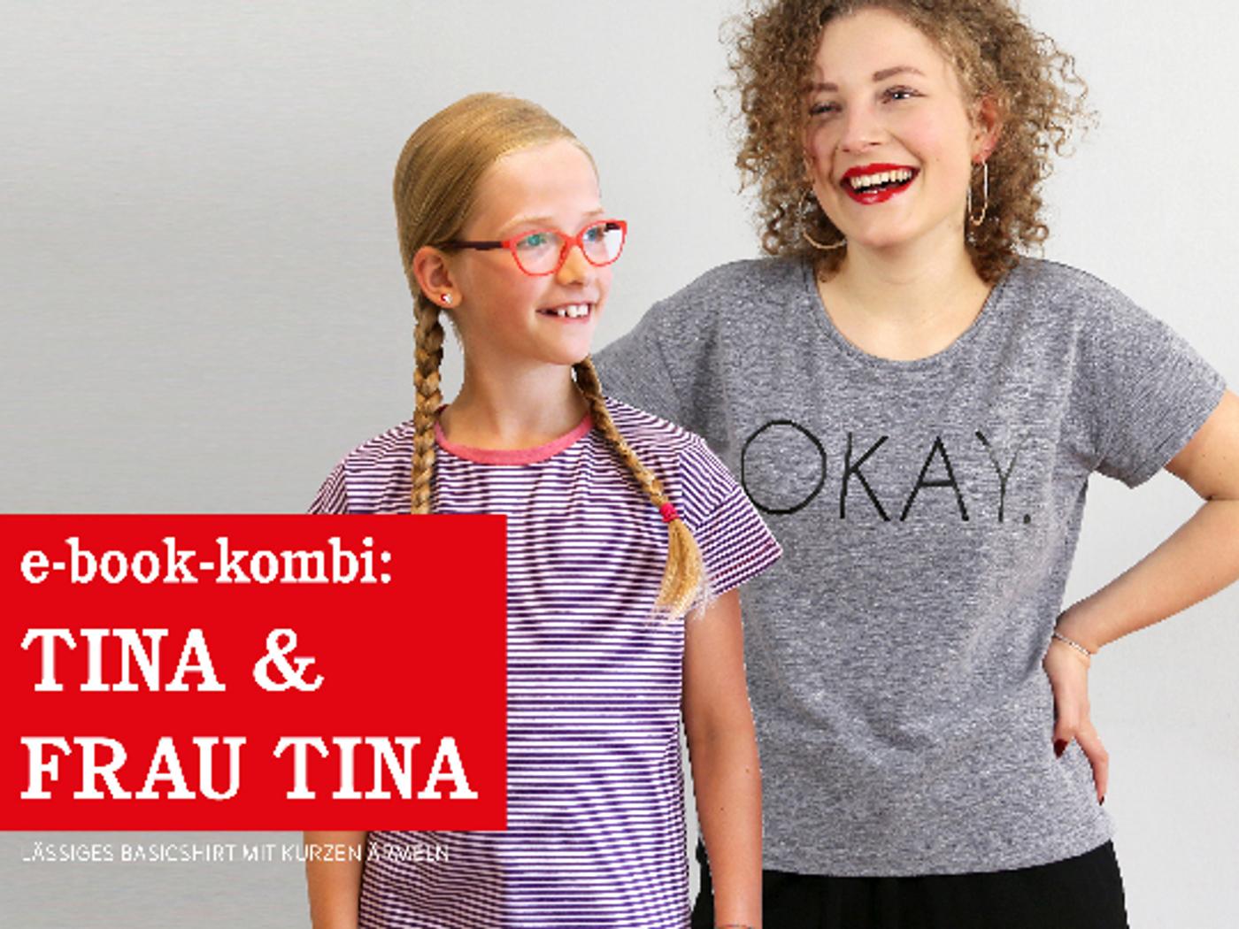 Produktfoto 1 von STUDIO SCHNITTREIF für Schnittmuster FRAU TINA & TINA  Basicshirts mit kurzen Ärmeln