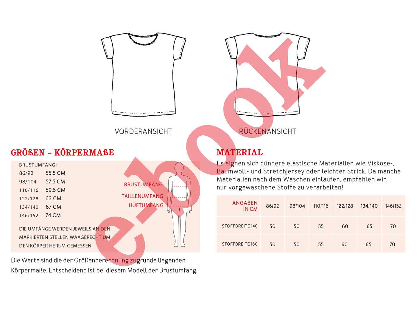 Produktfoto 4 von STUDIO SCHNITTREIF für Schnittmuster FRAU TINA & TINA  Basicshirts mit kurzen Ärmeln
