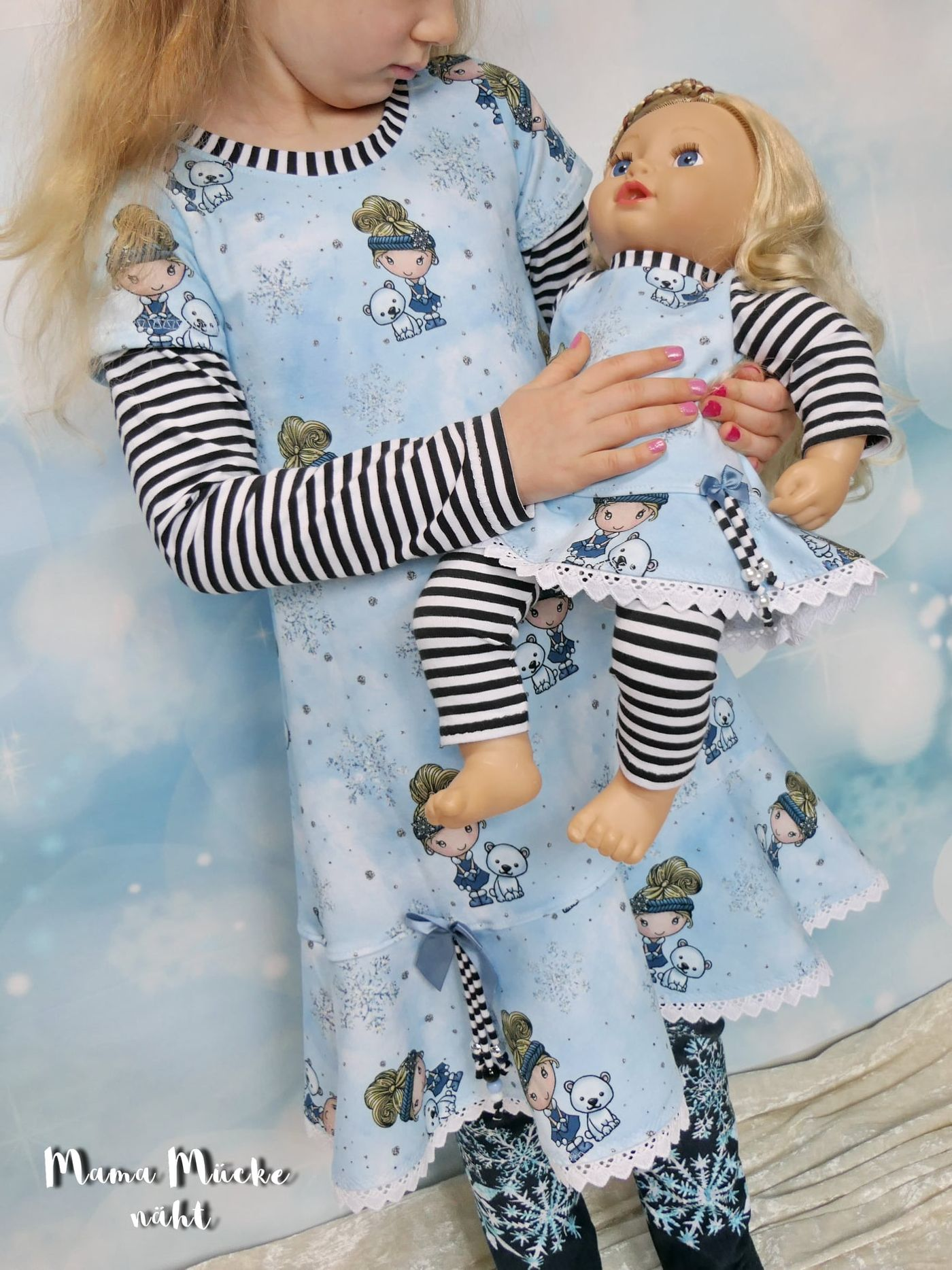 Produktfoto 7 von Happy Pearl für Schnittmuster Little SUNdrina + Happy SUNdrina Tunika/Kleid und 43cm Puppenschnitt