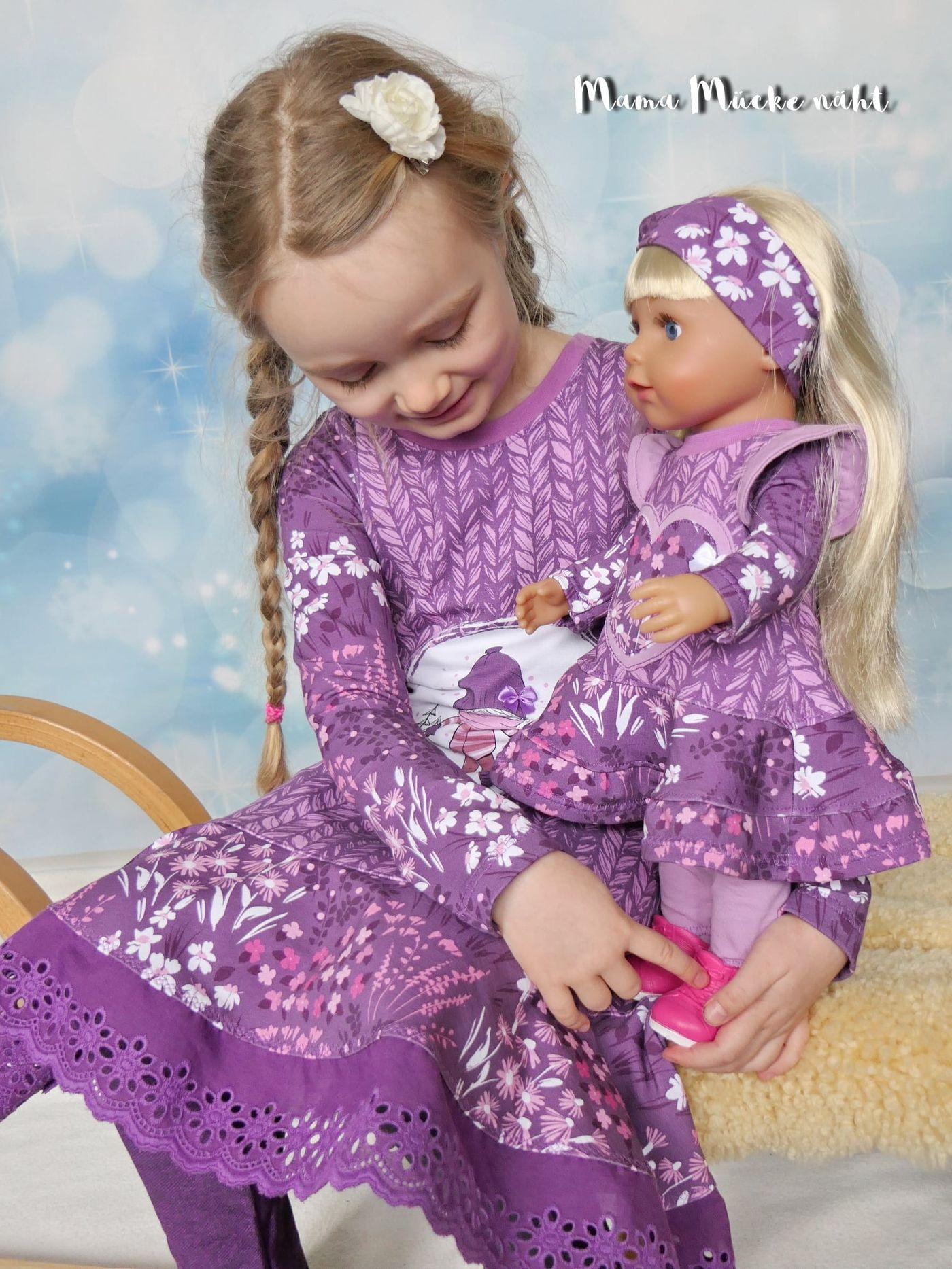 Produktfoto 10 von Happy Pearl für Schnittmuster Little SUNdrina + Happy SUNdrina Tunika/Kleid und 43cm Puppenschnitt