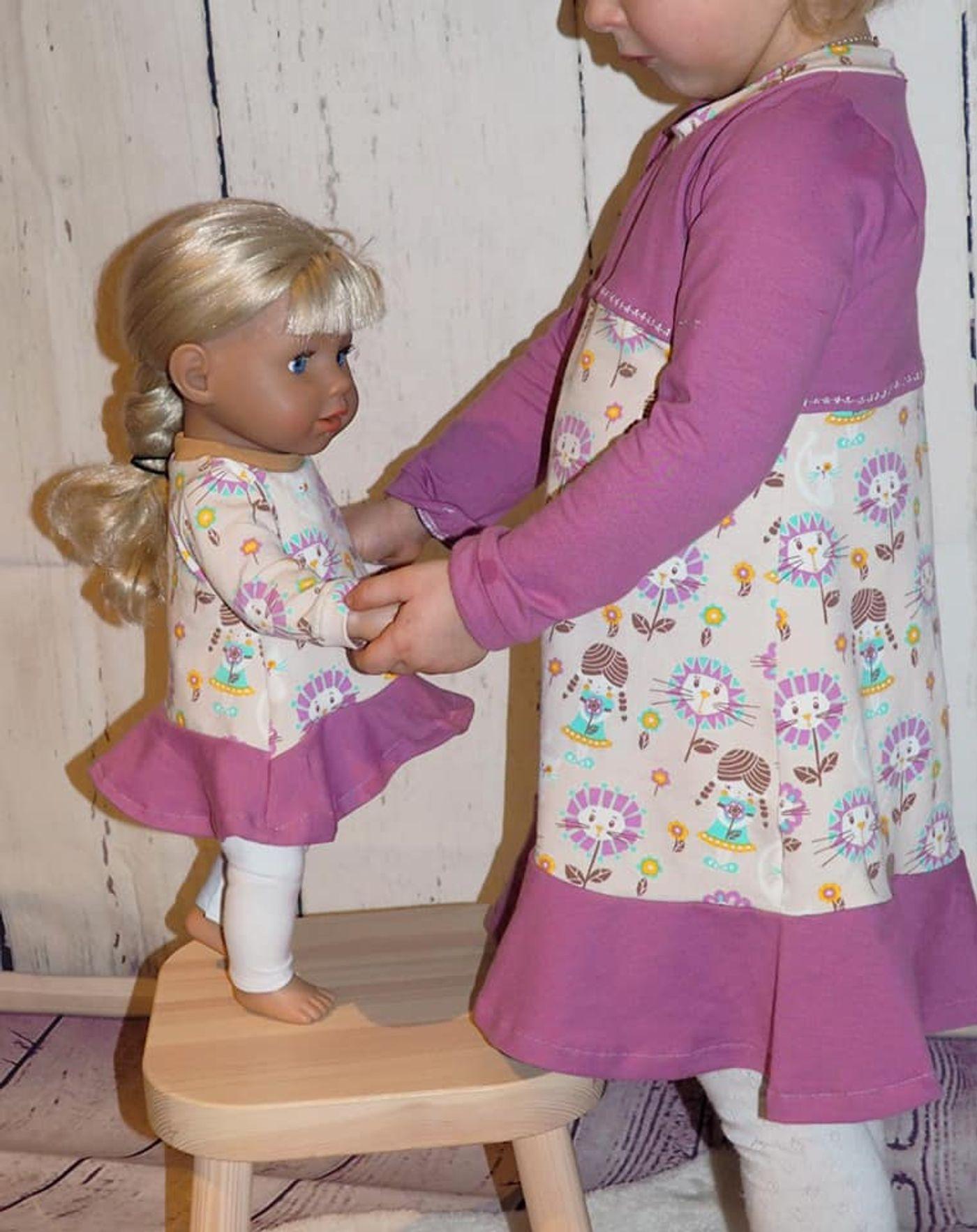 Produktfoto 11 von Happy Pearl für Schnittmuster Little SUNdrina + Happy SUNdrina Tunika/Kleid und 43cm Puppenschnitt
