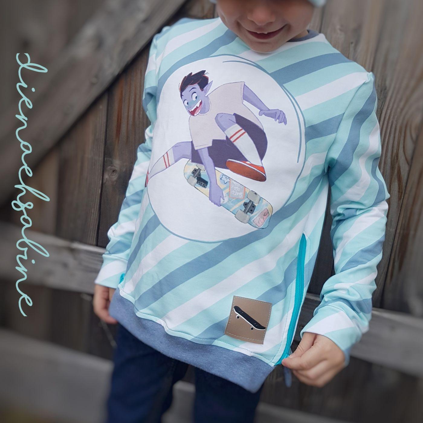 Produktfoto 9 von MamisLiebenNähen für Schnittmuster Sweater Kris in Gr. 86 - 152