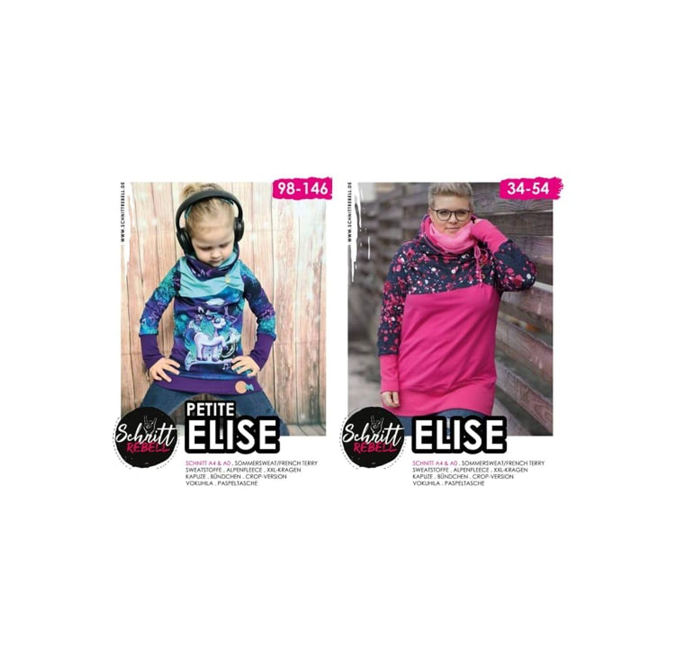 Produktfoto 1 von Schnittrebell für Schnittmuster Kombi Ebook Elise Gr.34-54 & Petite Elise Gr.98-146