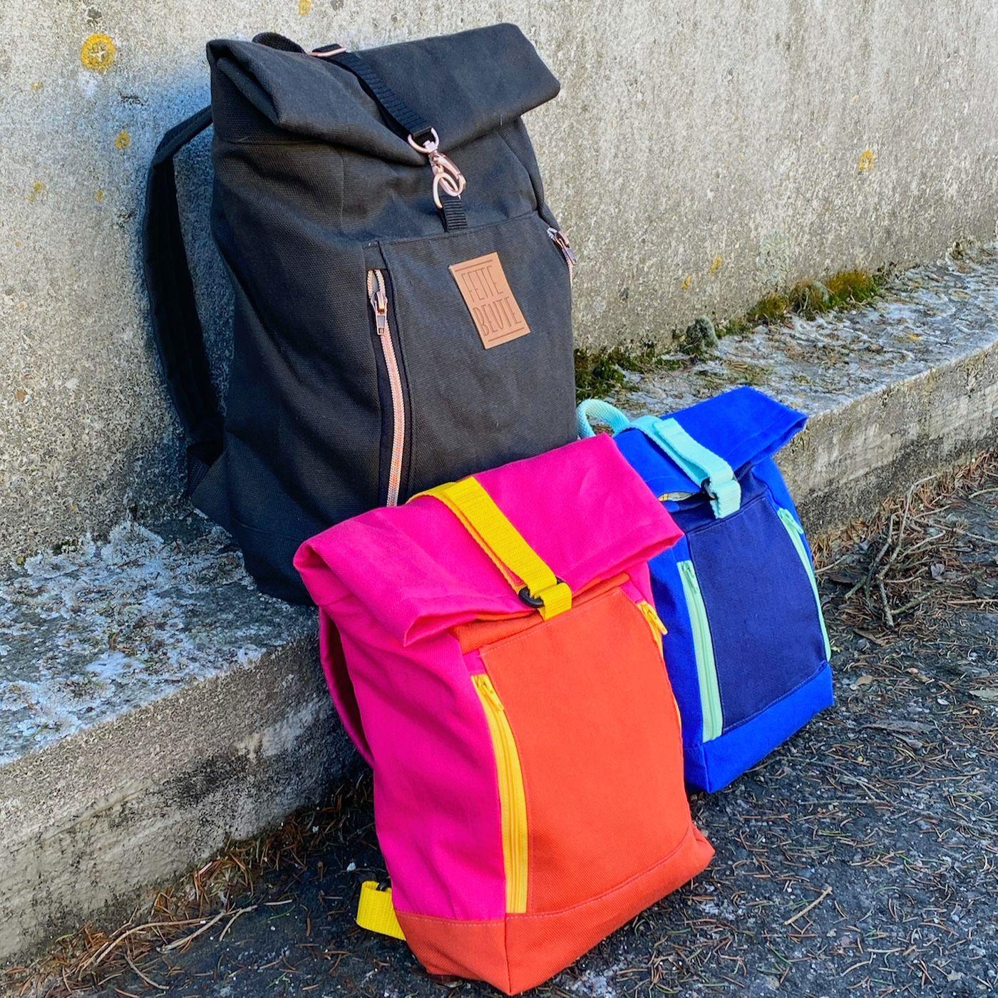 Produktfoto 1 von 11-lein für Schnittmuster Kombi Ebook Rucksack Yoko und Yoko mini