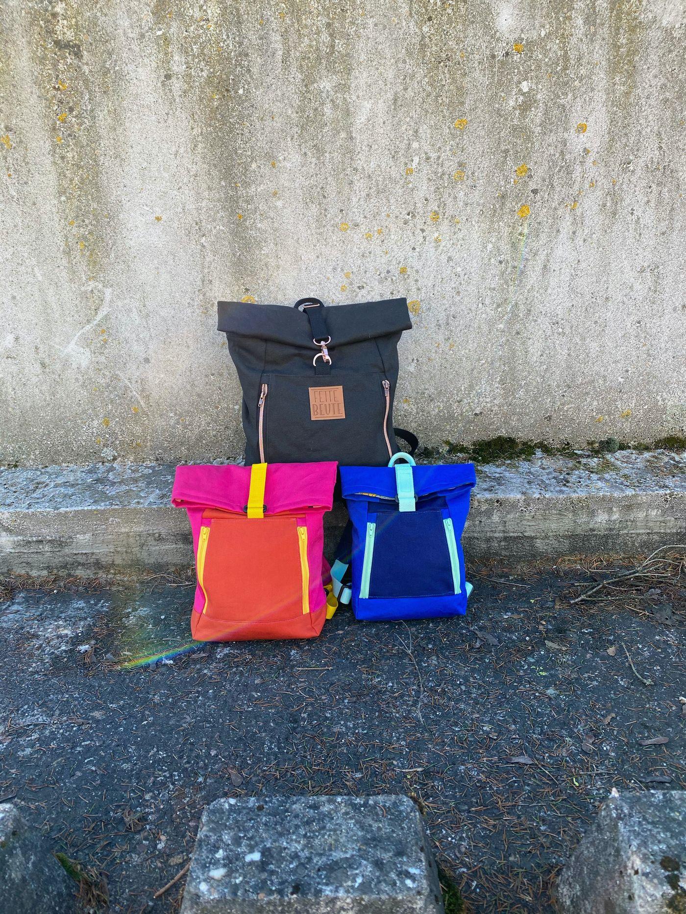 Produktfoto 5 von 11-lein für Schnittmuster Kombi Ebook Rucksack Yoko und Yoko mini