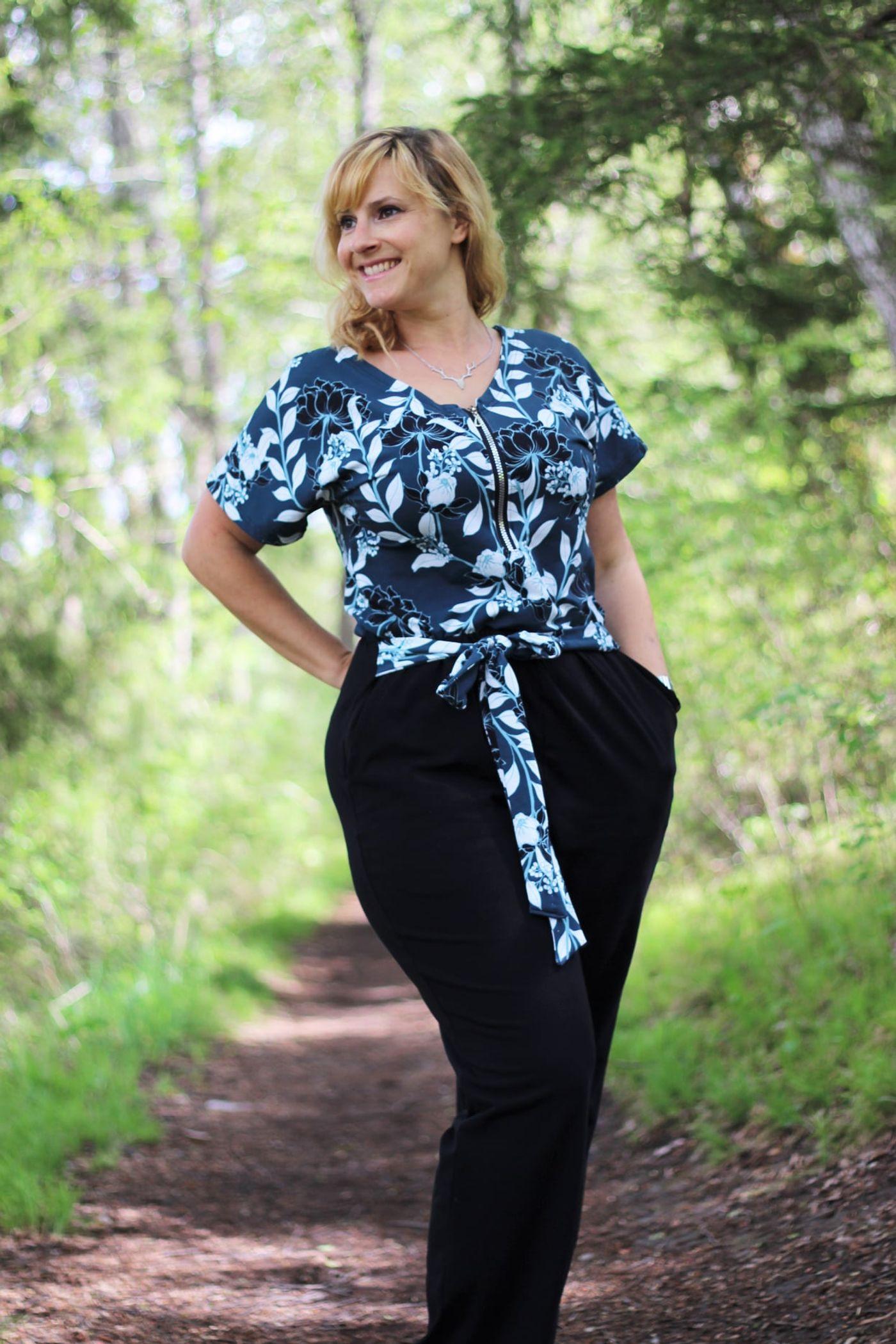 Produktfoto 8 von Schnittrebell für Schnittmuster Kombi Ebook Jumpsuit Marie & Kleid Joana Gr.34-54