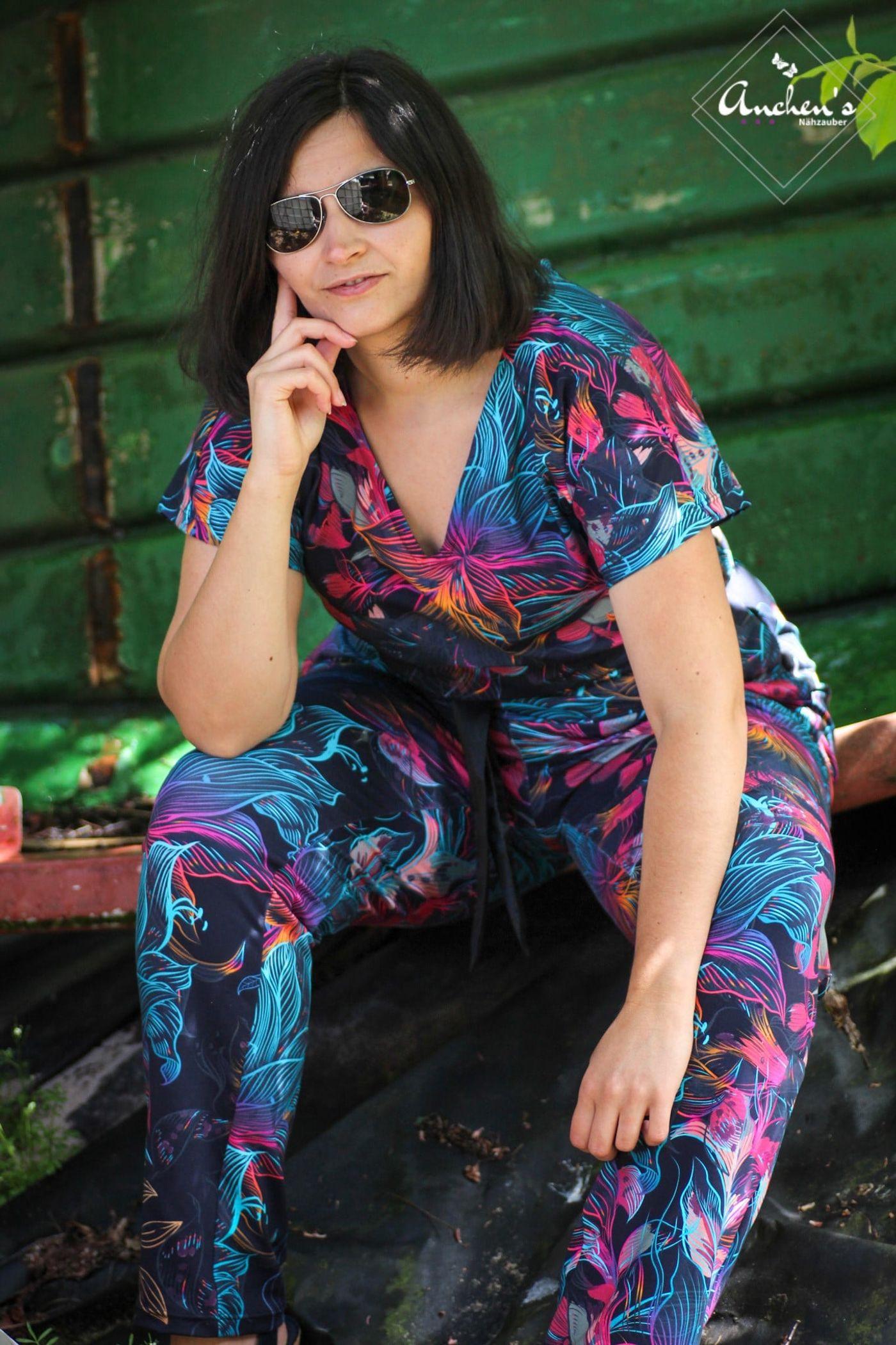 Produktfoto 11 von Schnittrebell für Schnittmuster Kombi Ebook Jumpsuit Marie & Kleid Joana Gr.34-54