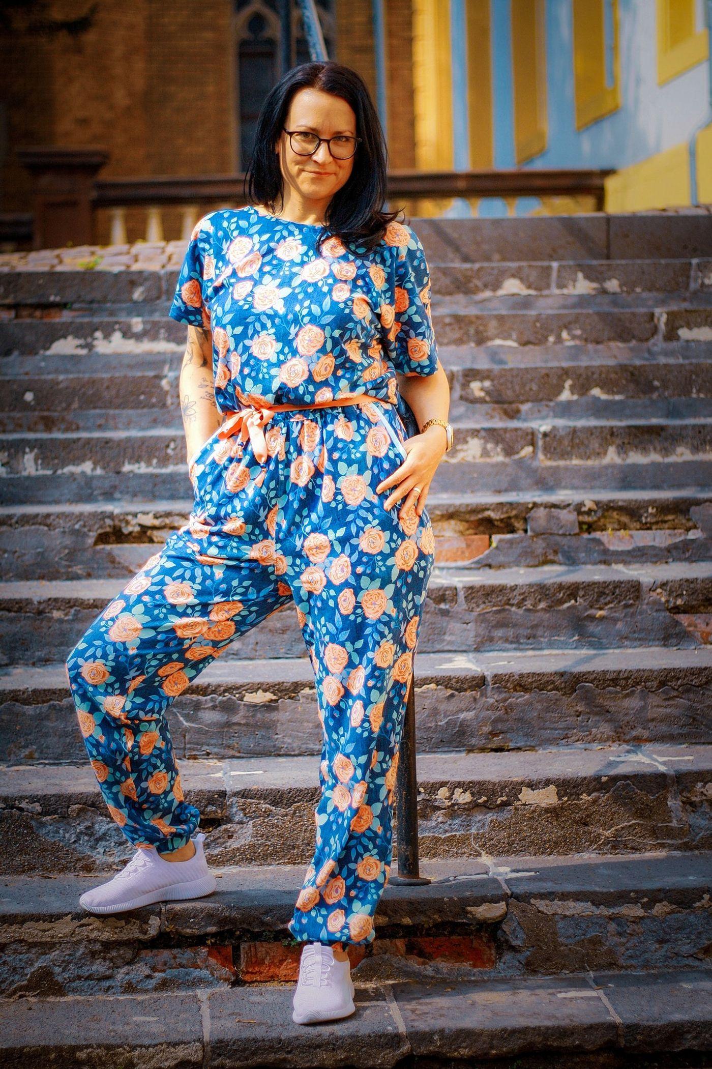 Produktfoto 16 von Schnittrebell für Schnittmuster Kombi Ebook Jumpsuit Marie & Kleid Joana Gr.34-54