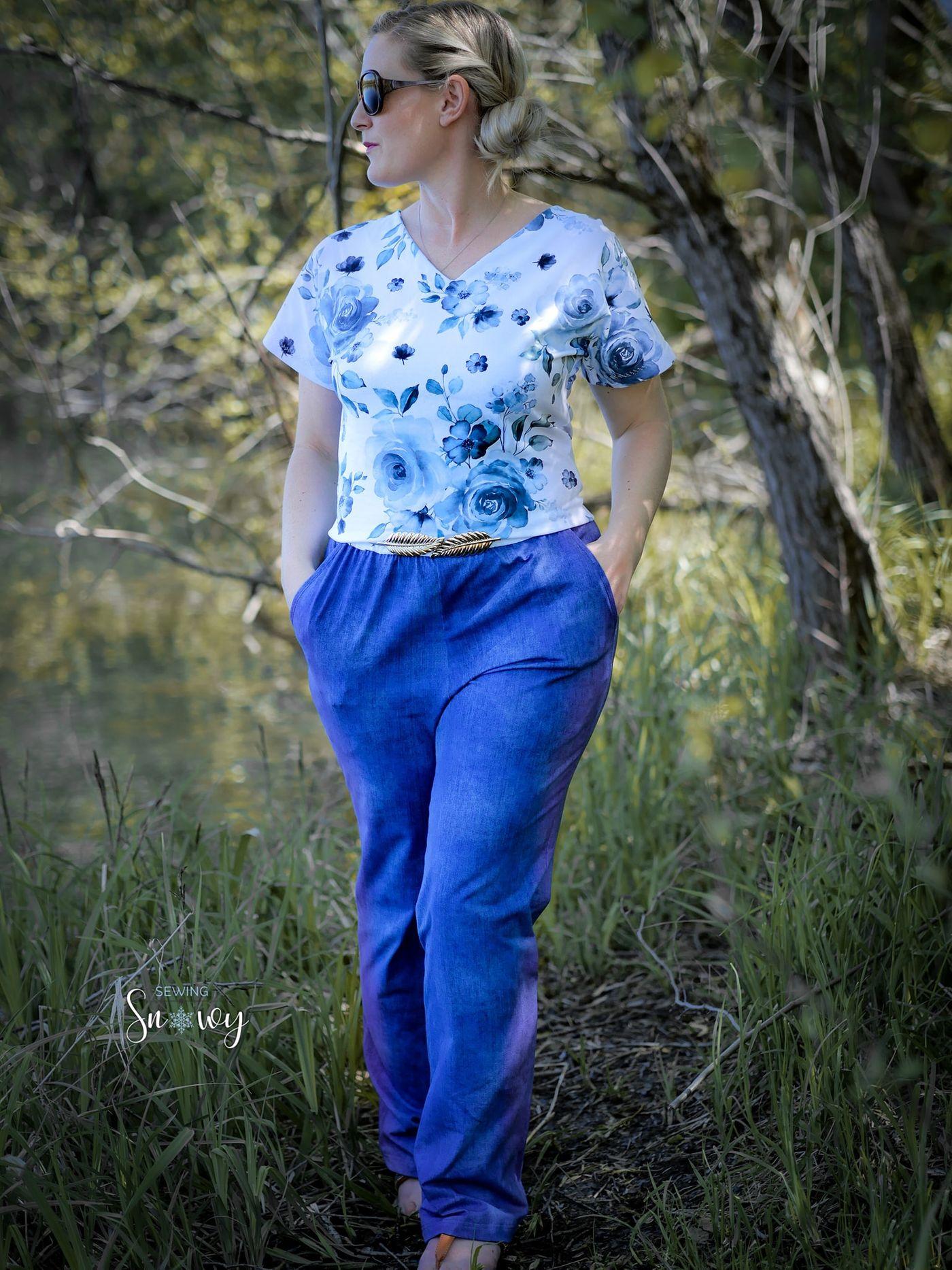 Produktfoto 18 von Schnittrebell für Schnittmuster Kombi Ebook Jumpsuit Marie & Kleid Joana Gr.34-54