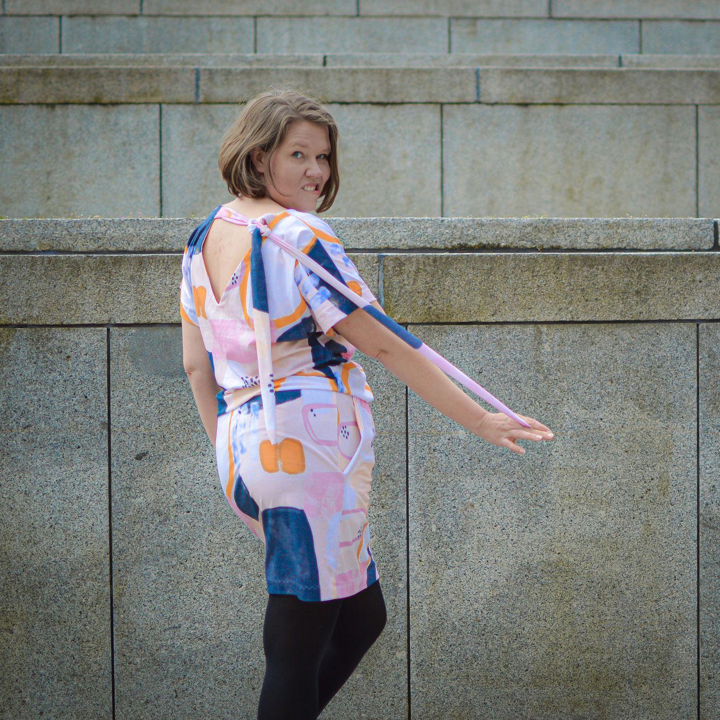 Produktfoto 20 von Schnittrebell für Schnittmuster Kombi Ebook Jumpsuit Marie & Kleid Joana Gr.34-54
